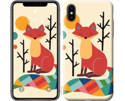 Чехол Rainbow fox для iPhone XS (5.8)
