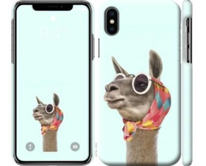 Чехол Модная лама для iPhone XS (5.8)