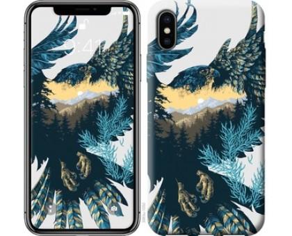 Чехол Арт-орел на фоне природы для iPhone XS (5.8)