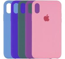 "Чехол Silicone Case (AA) для Apple iPhone X (5.8"") / XS (5.8"")"