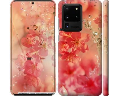 Чехол Розовые цветы для Samsung Galaxy S20 Ultra