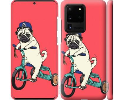 Чехол Мопс на велосипеде для Samsung Galaxy S20 Ultra
