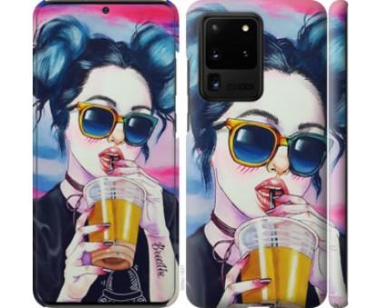 Чехол Арт-девушка в очках для Samsung Galaxy S20 Ultra
