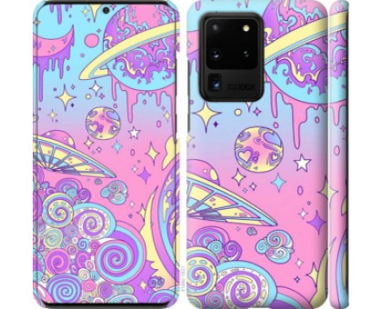 Чехол Розовая галактика для Samsung Galaxy S20 Ultra