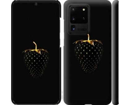 Чехол Черная клубника для Samsung Galaxy S20 Ultra