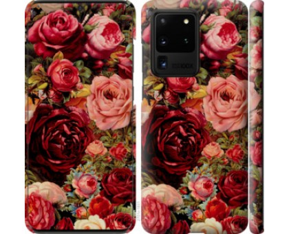 Чехол Цветущие розы для Samsung Galaxy S20 Ultra