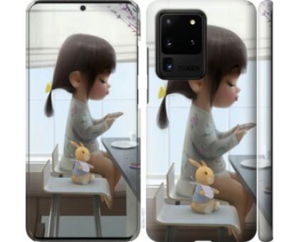 Чехол Милая девочка с зайчиком для Samsung Galaxy S20 Ultra