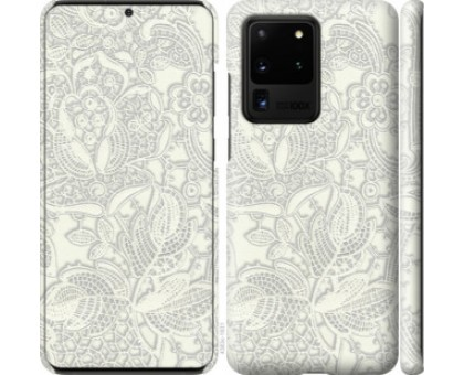 Чехол Белое кружево для Samsung Galaxy S20 Ultra