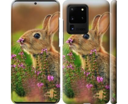 Чехол Кролик и цветы для Samsung Galaxy S20 Ultra