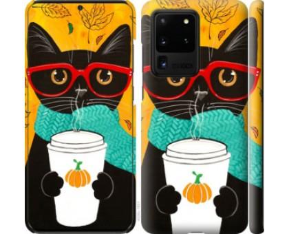 Чехол Осенний кот для Samsung Galaxy S20 Ultra
