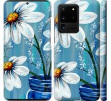 Чехол Красивые арт-ромашки для Samsung Galaxy S20 Ultra