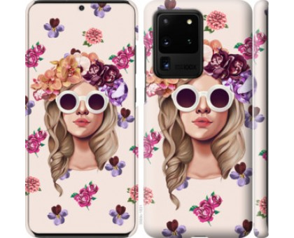 Чехол Девушка с цветами v2 для Samsung Galaxy S20 Ultra