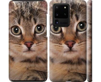 Чехол Полосатый котик для Samsung Galaxy S20 Ultra