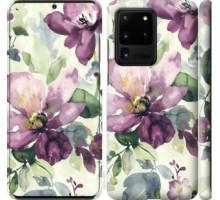 Чехол Цветы акварелью для Samsung Galaxy S20 Ultra