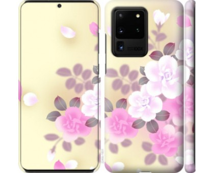 Чехол Японские цветы для Samsung Galaxy S20 Ultra