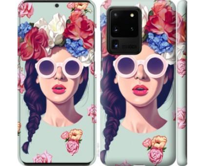 Чехол Девушка с цветами для Samsung Galaxy S20 Ultra