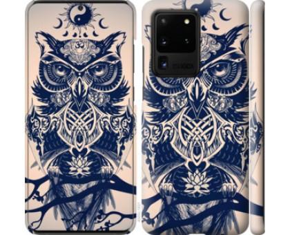 Чехол Узорчатая сова для Samsung Galaxy S20 Ultra