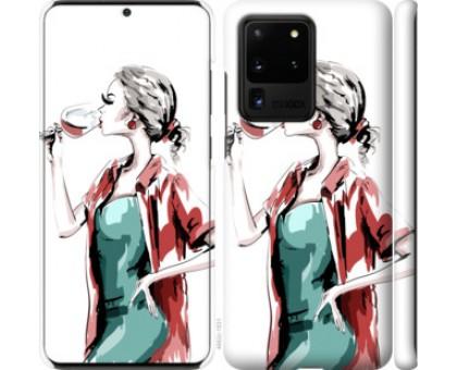 Чехол Девушка с бокалом для Samsung Galaxy S20 Ultra
