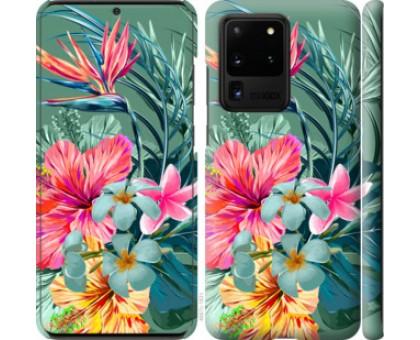 Чехол Тропические цветы v1 для Samsung Galaxy S20 Ultra