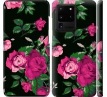 Чехол Розы на черном фоне для Samsung Galaxy S20 Ultra