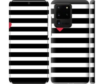 Чехол Черно-белые полосы для Samsung Galaxy S20 Ultra