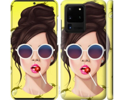 Чехол Девушка с чупа-чупсом для Samsung Galaxy S20 Ultra