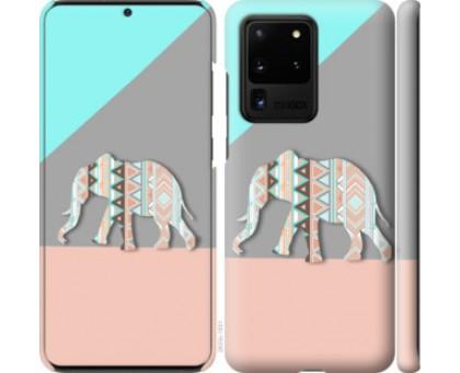 Чехол Узорчатый слон для Samsung Galaxy S20 Ultra